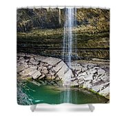 Waterfall At Hamilton Pool Shower Curtain by David Morefield