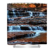 Waterfall Cascade North Creek Shower Curtain by Bob Christopher