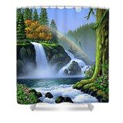 Waterfall Shower Curtain by Jerry LoFaro
