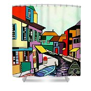Waterfront Shower Curtain by Anthony Falbo