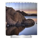 Watson Lake Arizona Colors Shower Curtain by Dave Dilli