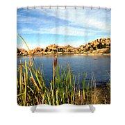 Watson Lake Arizona Shower Curtain by Kurt Van Wagner
