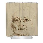 Wava Shower Curtain by PainterArtistFINs Husband MAESTRO