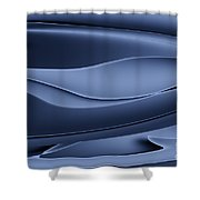Wave Art Vi Shower Curtain by Ludek Sagi Lukac