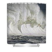 Wave Whitewash Shower Curtain by Vince Cavataio