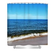 Waves In Motion Shower Curtain by Michelle Calkins