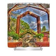 Wayfarers Chapel Shower Curtain by Heidi Smith