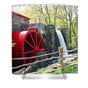 Wayside Inn Grist Mill Shower Curtain by Barbara McDevitt