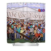 We The People Shower Curtain by Anthony Falbo