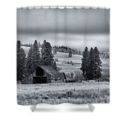 Weathered Beneath The Storm Shower Curtain by Mike  Dawson