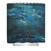 Weathering The Storm Shower Curtain by Leslie Allen