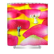 Wedding Photography Little People Big Worlds Shower Curtain by Paul Ge