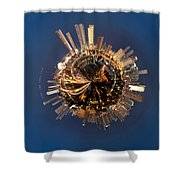 Wee Miami Planet Shower Curtain by Nikki Marie Smith