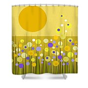 Weeds Shower Curtain by Val Arie