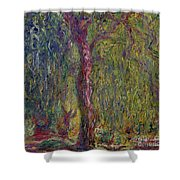 Weeping Willow Shower Curtain by Claude Monet