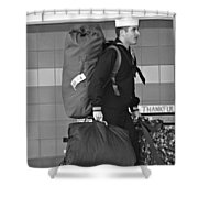 Welcome Home Soldier Shower Curtain by Dan Sproul