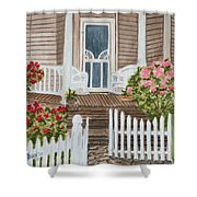 Welcome Shower Curtain by Regan J Smith