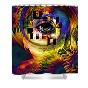 Welcome To 3rd Annex Shower Curtain by Elizabeth McTaggart