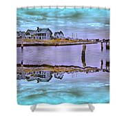 Welcome To Bald Head Island II Shower Curtain by Betsy C  Knapp