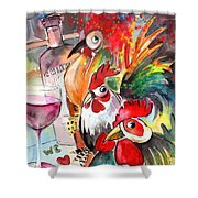 Welcome To Italy 08 Shower Curtain by Miki De Goodaboom