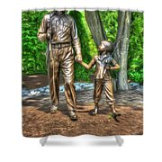 Welcome To Mayberry Shower Curtain by Dan Stone