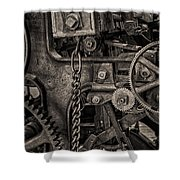 Welcome to the Machine Shower Curtain by Erik Brede