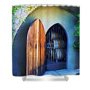 Welcome To The Winery Shower Curtain by Elaine Plesser