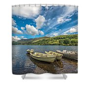 Welsh Boats Shower Curtain by Adrian Evans