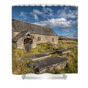 Welsh Church Shower Curtain by Adrian Evans