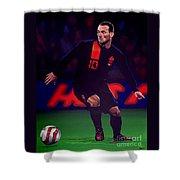 Wesley Sneijder  Shower Curtain by Paul Meijering