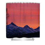 West Side Teton Sunrise Shower Curtain by Raymond Salani III