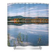 West Twin Lake Shower Curtain by Bill  Wakeley