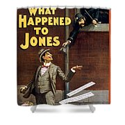What Happened To Jones Shower Curtain by Aged Pixel