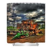 Wheat Field Fire 2 Shower Curtain by Reid Callaway