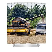 Wheat Harvest Shower Curtain by Georgia Fowler