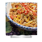 Wheat Pasta Goulash Shower Curtain by Andee Design