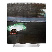 When The Night Start To Walk Listen With Music Of The Description Box Shower Curtain by Lazaro Hurtado
