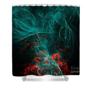 When The Smoke Clears They Bloom Shower Curtain by Elizabeth McTaggart