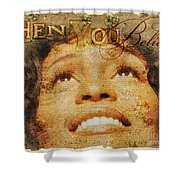 When You Believe Shower Curtain by Mo T
