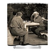 Where Is Bobby Fischer Shower Curtain by Madeline Ellis