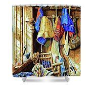 Where The Heart Is Shower Curtain by Hanne Lore Koehler