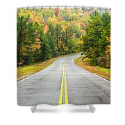 Where this Road will Take You - Talimena Scenic Highway - Oklahoma - Arkansas Shower Curtain by Silvio Ligutti