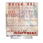 Which Way Shower Curtain by Heather Applegate
