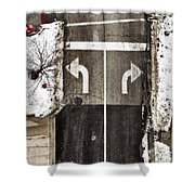 Which Way Shower Curtain by Margie Hurwich