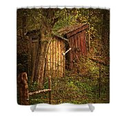 Which Way to the Outhouse? Shower Curtain by Priscilla Burgers