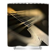 While My Guitar Gently Weeps Shower Curtain by Laura Fasulo