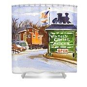 Whistle Junction In Ironton Missouri Shower Curtain by Kip DeVore