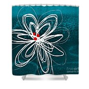 White Flower Shower Curtain by Linda Woods