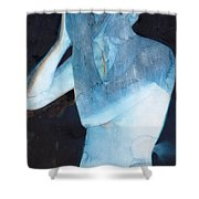 White Lights I Shower Curtain by Graham Dean