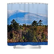 White Mountains Shower Curtain by Skip Willits